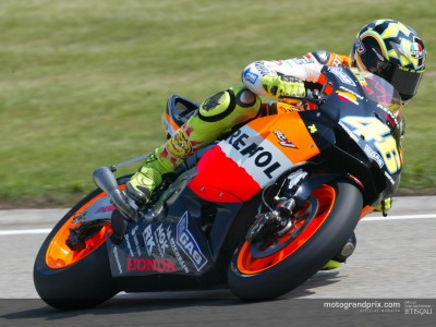 Rossi irrepressible on first day at Sachsenring