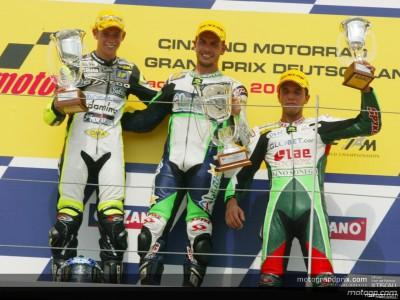 I commenti dal podio della 125cc in Germania