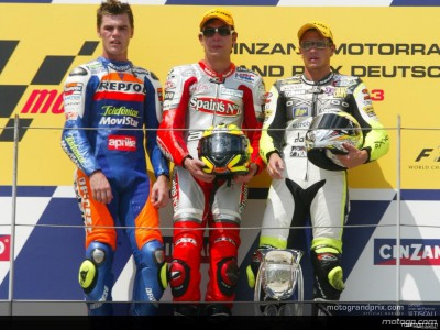 Perspectives from the podium after the German 250cc GP
