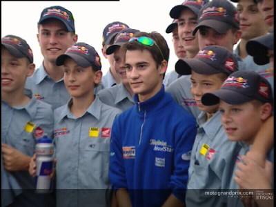 Las futuras figuras alemanas se encuentran con Valentino Rossi y Dani Pedrosa
