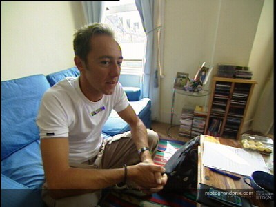 Olivier Jacque at home in London