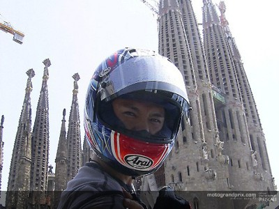 Shinya Nakano enjoying his time off in Barcelona