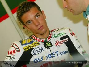 Alex de Angelis quiere ganar un GP este año antes dar salto a los 250cc en 2004