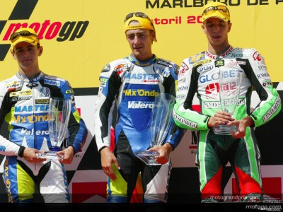 Words from the podium finishers in the 125cc GP at Estoril