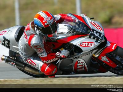 Melandri progresse clairement et fini 1er pilote Yamaha à Estoril