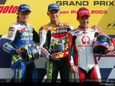 決勝 MotoGPクラストップ3のインタビュー