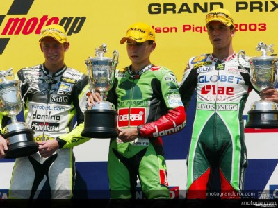 Words from the 125cc podium