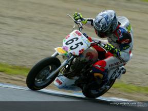 Ukawa y Tamada participaron en una carrera de resistencia con motos de pequeña cilindrada