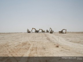 Work begins on the new circuit in Qatar