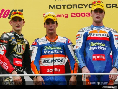 Podium perspectives after the 250cc race in Sepang