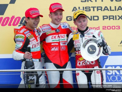 Words from a wet 125cc podium in Australia