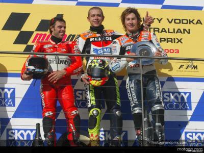 決勝 MotoGPクラス 表彰台獲得ライダーたちのインタビュー