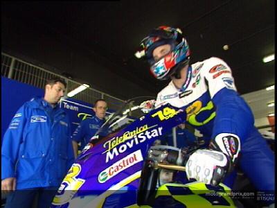 Edwards ha debuttato sulla RC211V in Catalogna