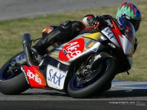 Byrne a Jerez ha fatto i suoi primi giri in MotoGP con l'Aprilia