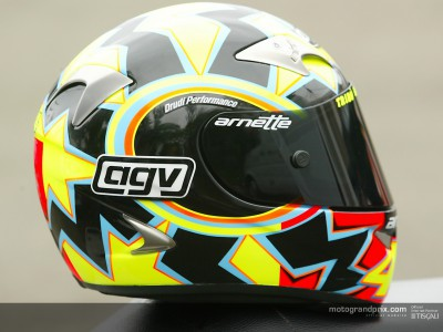 Valentino Rossi original helmet awarded to the winner of Team Manager