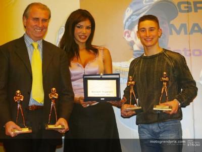 Poggiali y Rolfo recogen sus trofeos en el Motor Show de Bolonia