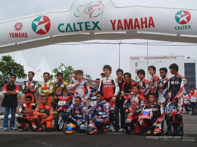 Matsudo takes part in 'Asian Yamaha Cup 2003' exhibition race