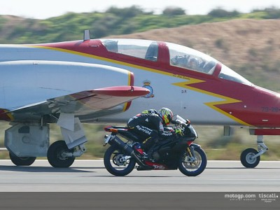Fonsi Nieto wins drag race against military jet