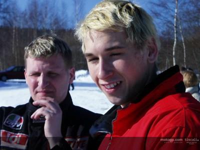 Lukas Pesek ha visitato il quartier geerale dell'Ajo Motosports