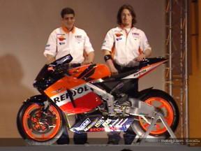 Barros y Hayden,  optimistas en la presentación del equipo Repsol Honda