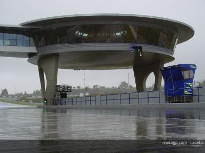 Rain spoils last day of testing at Jerez