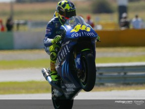 Rossi takes first pole for Yamaha