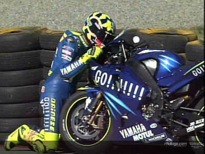 Rossi takes historic first win with Yamaha