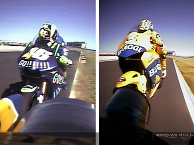 Relive the Rossi and Biaggi battle as they saw it