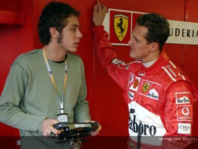 ロッシがフェラーリF1をテスト