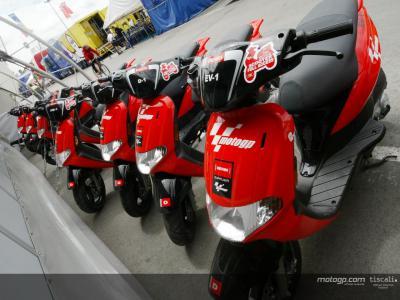 El scooter Derbi Atlantis, para el personal del MotoGP