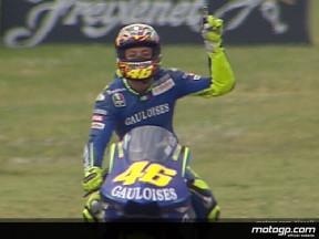 Rossi, l'eroe del Mugello