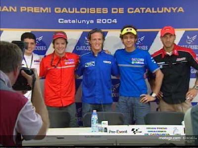 Colourful MotoGP convoy arrives at Catalunya