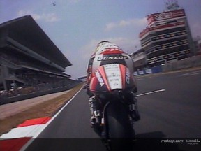 Spectacular last lap onboard with Pedrosa and De Puniet