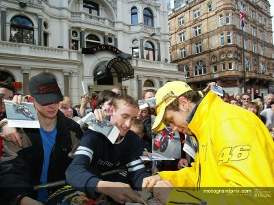 Rossi to meet fans in Leicester Square