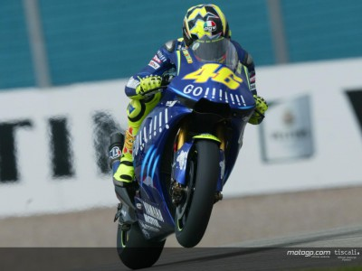 Rossi on top in first free practice