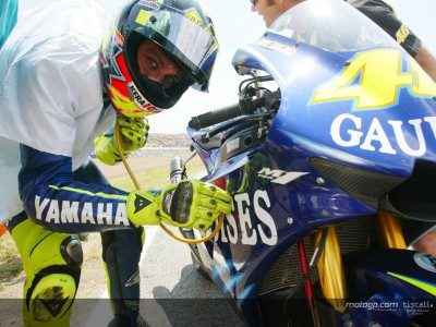 Rossi in tune with his Yamaha