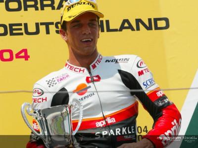 Debut podium joy for De Angelis