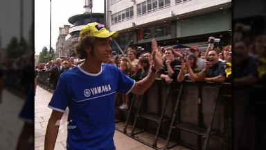 Rossi greeted by thousands in Leicester Square