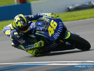 Rossi sets pace as track action gets underway