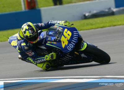 Rossi happy with first day