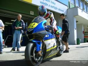 Jacque back behind the bubble with Moriwaki test