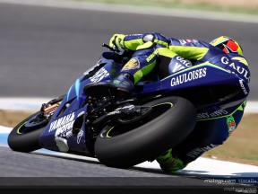 New exhaust for Rossi in Estoril test