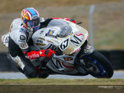 Aprilia pair happy with points