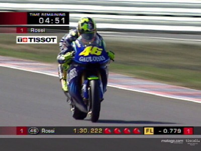 Rossi sonne la charge