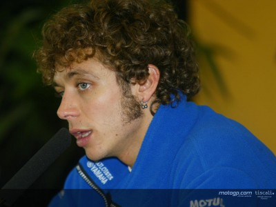 Rossi addresses the media after title triumph