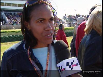 Kathy Freeman découvre le MotoGP
