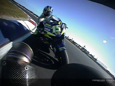 Last lap onboard with Rossi