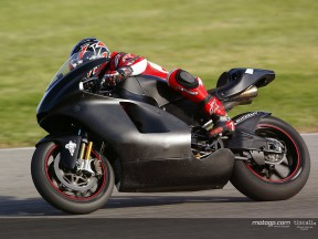 Exclusive footage of Checa's Ducati debut