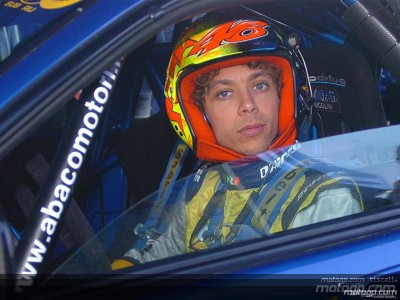 Rossi takes part in Monza Rally