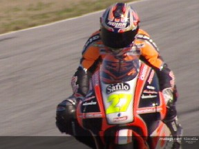 Stoner and Locatelli in action at Jerez